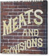 David Mann - Meats And Provisions Canvas Print