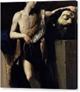 David With The Head Of Goliath 1606 Canvas Print
