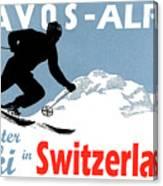 Davos, Alps, Mountains, Switzerland, Winter, Ski, Sport Canvas Print