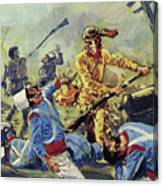 Davy Crockett Eventually Fell To The Ceaseless Mexican Attacks Canvas Print