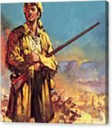 Davy Crockett  Hero Of The Alamo Canvas Print