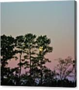 Dawn And Moon Setting - Virginia Canvas Print