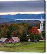 dawn arrives at sleepy Peacham Vermont Canvas Print