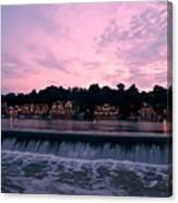 Dawn At Boathouse Row Canvas Print