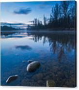 Dawn At River Canvas Print