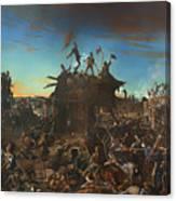 Dawn At The Alamo Canvas Print