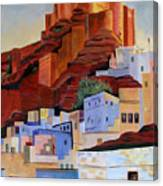 Dawn At The Fort In Jodhpur  Canvas Print