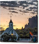 Dawn At The Superstitions Canvas Print