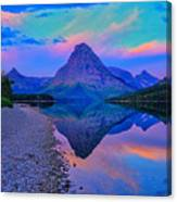 Dawn At Two Medicine Lake Canvas Print