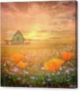 Dawn Blessings On The Farm Canvas Print