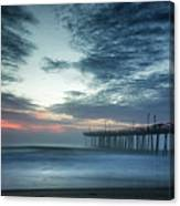 Dawn Breaking Through Canvas Print