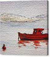 Dawn Fishing Canvas Print