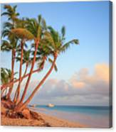 Dawn In Punta Cana Canvas Print