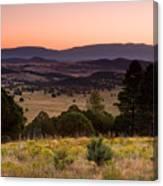 Dawn Near Ruidoso New Mexico Canvas Print