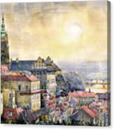 Dawn Of Prague Canvas Print