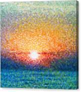 Dawn On A Caspian Sea Canvas Print