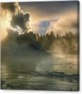 Dawn On Castle Geyser Canvas Print