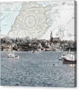 Dawn On Marblehead Harbor Canvas Print
