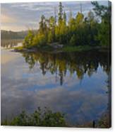 Dawn On The Basswood River Canvas Print