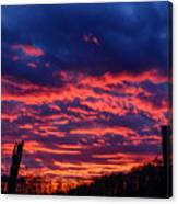 Dawn On The Farm Canvas Print