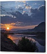 Dawn On The Hocking Canvas Print