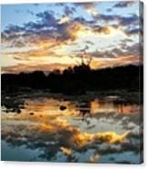 Dawn Over Boerne Creek Canvas Print
