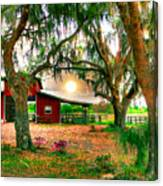 Dawning At The Barn Canvas Print