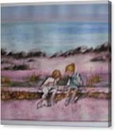Day At Beach Canvas Print