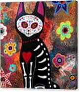 Day Of The Dead Cat El Gato Canvas Print