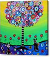 Day Of The Dead Cat'slife Canvas Print