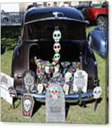 Day Of The Dead Classic Car Trunk Display  Canvas Print