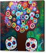 Day Of The Dead Love Offering Canvas Print