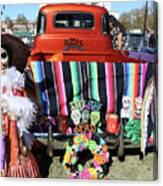 Day Of The Dead Truck Decorations  Canvas Print