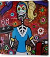 Day Of The Dead Waitress Canvas Print