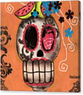 Day Of The Dead Watermelon Canvas Print