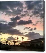 Daybreak Sky In Florida Canvas Print