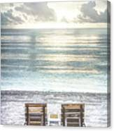 Daydreaming By The Sea In Watercolors Canvas Print