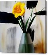 Daylily Abstract Canvas Print