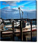 Days End At The Dock Canvas Print