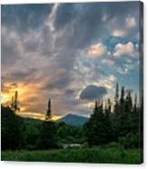Days End In The Bog Canvas Print