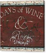 Days Of Wine And Roses Canvas Print