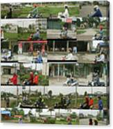Daytime Scooters, Hanoi Canvas Print