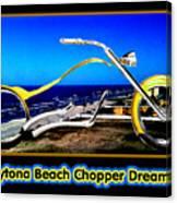 Daytona Beach Chopper Dreaming Yellow Gold Jgibney The Museum Canvas Print