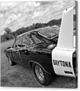 Daytona Charger In Black And White Canvas Print