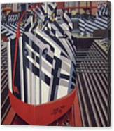Dazzle Ships In Drydock At Liverpool Canvas Print