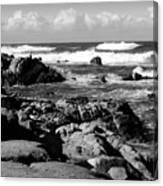 Dazzling Monterey Bay B And W Canvas Print
