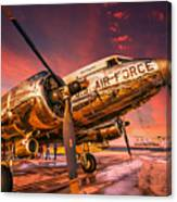 Dc-3 In Surreal Evening Light Canvas Print