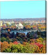 Dc Skyline With Jefferson Memorial Canvas Print