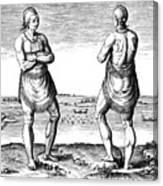 De Bry, Roanoke Native American Canvas Print