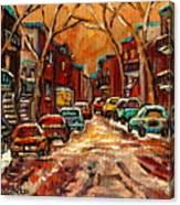 De Bullion Street Montreal Canvas Print